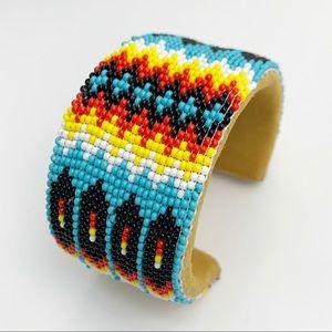 Beaded Adjustable Cuff bracelet NIB